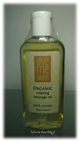 Organic relaxing Massage Öl von love me green