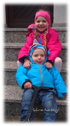 Meine beiden Enkelkinder Virginia und Brooklyn