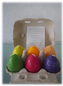 Ostereier-Kerzen in Verpackung