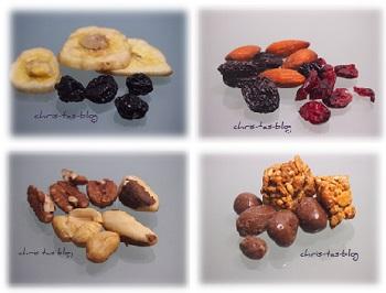 getrocknete Früchte und Nüsse in meiner Bitebox
