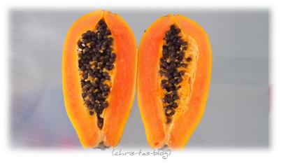 Papaya aus der Obstbox