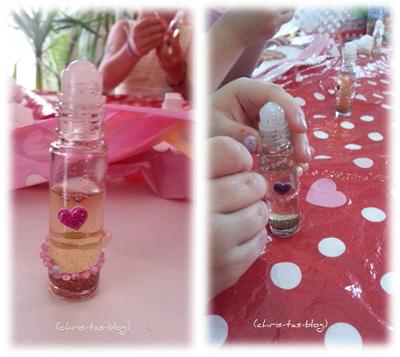 Parfüm Flakons verzieren