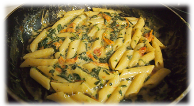 Penne Spinat Tomaten