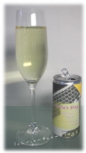 Perlwein in Getränkedose bedruckt