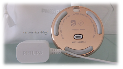 Rückseite Ladestation Philips VisaCare