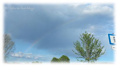 Regenbogen Ostersonntag