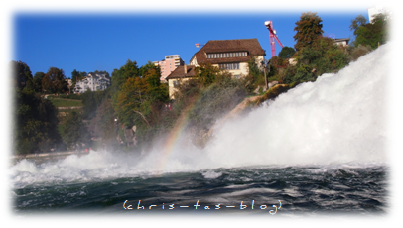 Regenbogen am Rheinfall Schaffhausen