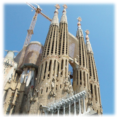 Barcelona Spitze der Sacrada familia
