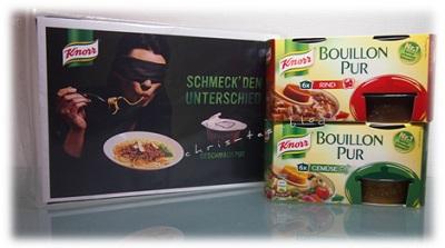 Schmeck den Unterschied Knorr Bouillon Pur