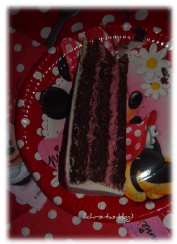 Schokolade-Kirsch-Torte Minni Maus von deineTorte.de Kindergeburtstag