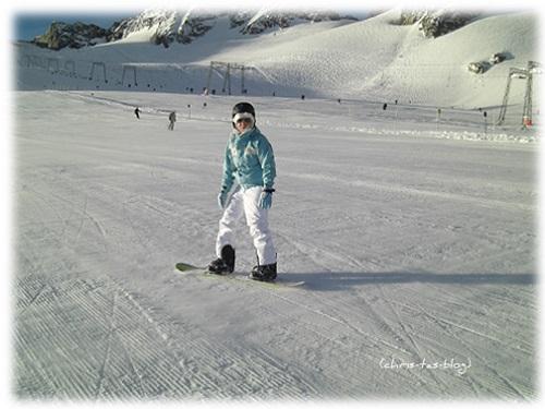 Snowboarden im Winter