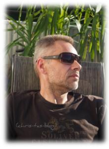 Mein Mann trägt seine neue Sonnenbrille