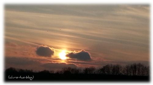Sonnenuntergang Wiesengrund