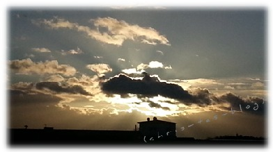 Sonnenuntergang im Januar 2015