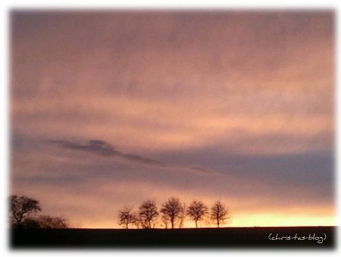Sonnenuntergang in Diespeck