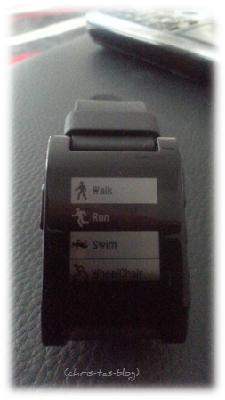 Sport App für Pebble Smartwatch