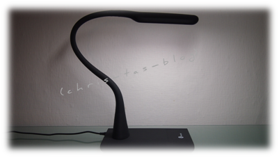meine neue Schreibtischlampe