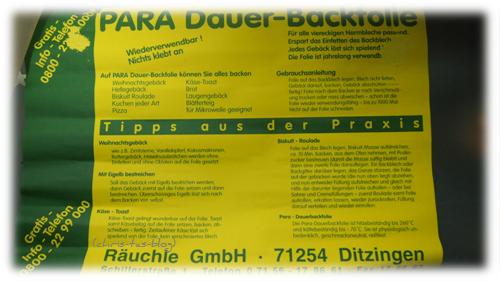 Tipps für die Verwendung der Dauer-Backfolie