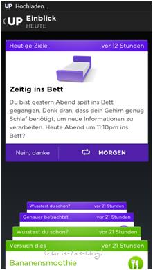Tipps von der Up-App