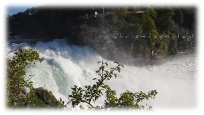 Tolle Aussicht vom Rheinfall-Felsen