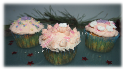 Unsere Cupcakes mit Topping