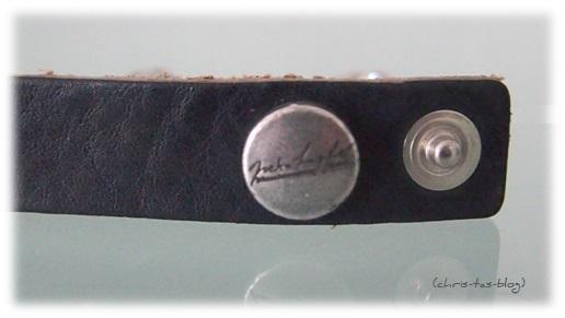 Label und Verschluß Bandie Armband