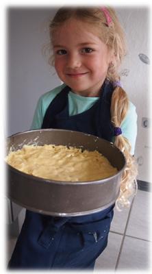 Virginia hat Apfelkuchen gebacken
