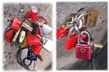 Liebesschlösser auf der Alten Mainbrücke Würzburg