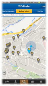 WC-Finder-App für Neustadt a.d.Aisch