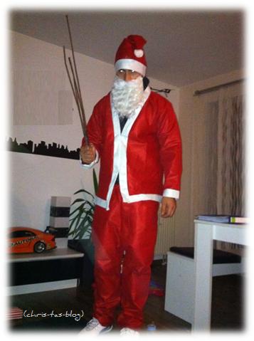 Weihnachtsmann mit Route