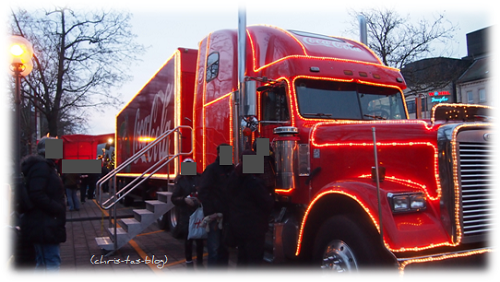 Weihnachtstruck Tour 2013 Stopp in Fürth