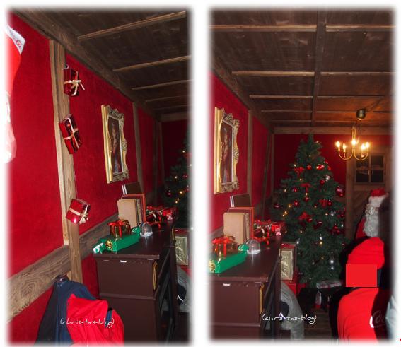 Weihnachtstruck im Inneren