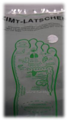 Zimt-Latschen Fußreflexzonen Massage