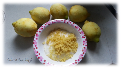 Zitronen für Zitronensirup