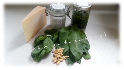 Bärlauch-Basilikum-Pesto Zutaten
