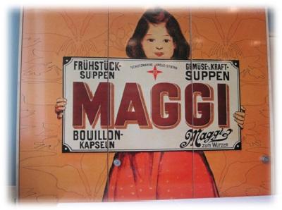 altes Maggi Reklameschild