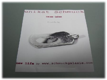 Unikat Schmuck von Schmuckgalaxie - Ultraschallbild