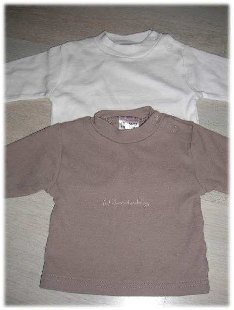 Langarmshirts für Babys - vorher-nachher