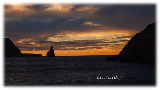Sonnenuntergang am Strand Benirras