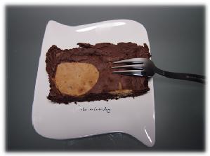 Stracciatella Brownie frisch serviert