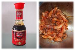 Fleisch in Teriyaki-Sauce einlegen