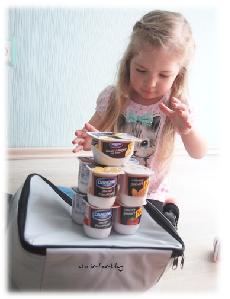 Virginia und die neuen Danone-Joghurts