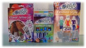 Schablonen- und Stifteset für Orbis Airbrush-Set