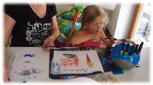unsere ersten Airbrush-Bilder