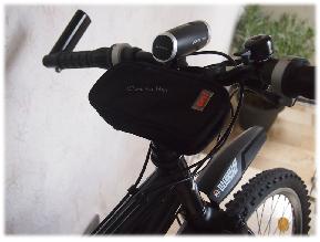 mit der Easybag für unterwegs - auf dem Mountainbike