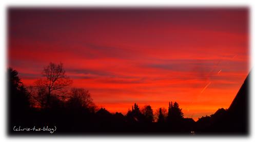 feuerroter Himmel - Sonnenuntergang in Neustadt Aisch