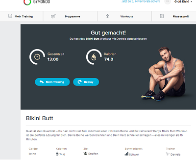 gymondo.de - Bikini Butt Workout