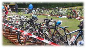 teilnehmende Bikes beim 27. Volkstriathlon Neustadt Aisch