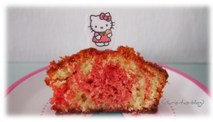 rosa marmorkuchen - hello Kitty