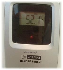 52,1 Grad auf dem Balkon